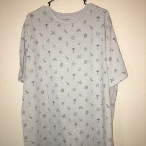 Lucky Brand Men's 2XLT Mystic Occult Print Tshirt